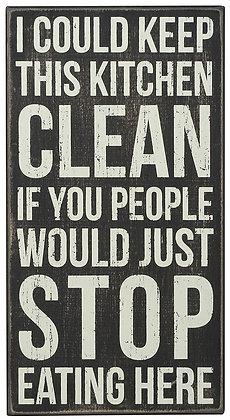 Clean Kitchen Box Sign