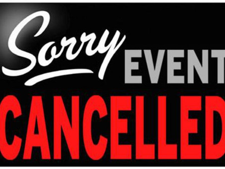 EVENT CANCELLED - 14th Dec :(