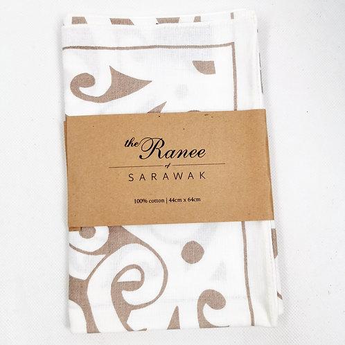 Tea Towel (Beige)-Tree of Life
