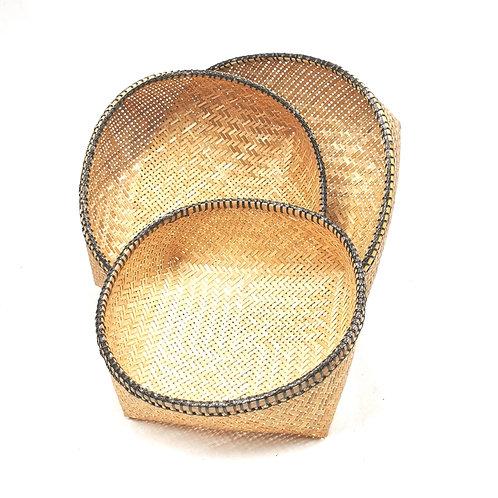 Basket set of 3 pcs (Black)