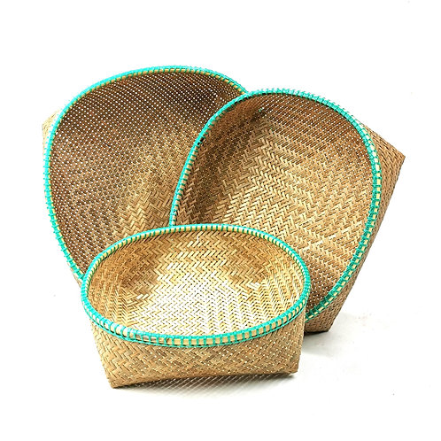 Basket set of 3 pcs (Green)