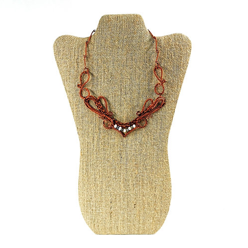 Necklace -Handcrafted Copper with Pearls