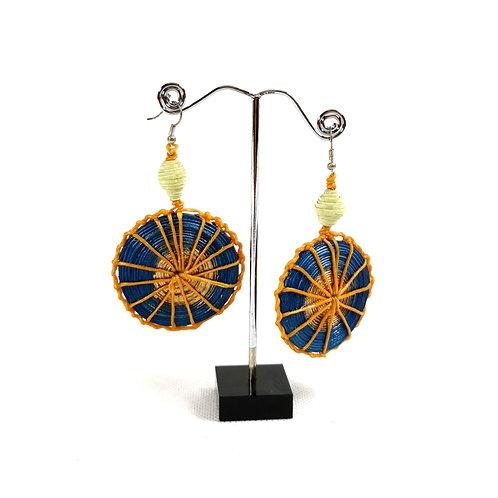 Earrings -Paper Wheel