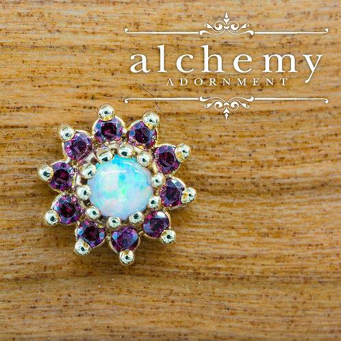 Alchemy Adornment Breezy with Swarovski Crystals and Faux Opal