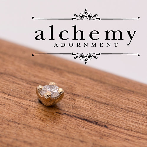 Alchemy Adornment Prong Set White Diamond