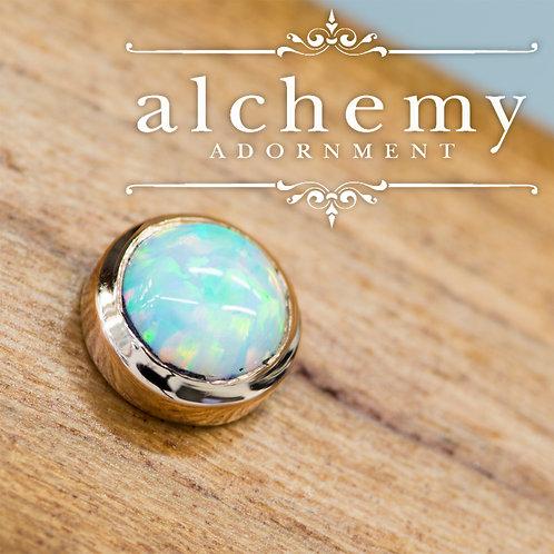 Alchemy Adornment Bezel Set 4mm Faux Opal