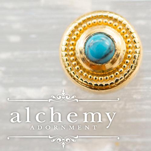 Alchemy Adornment Round Milgrain with Cabochon