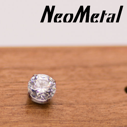 NeoMetal 5mm Prong Set Swarovski Crystal Ends