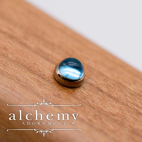Alchemy Adornment 3mm Bezel Set Genuine Cabochon