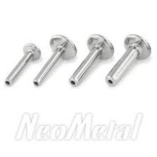 NeoMetal Threadless Titanium Labrets
