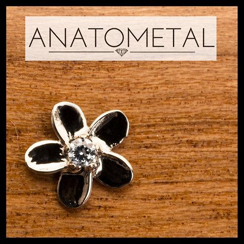 Anatometal Gemmed Plumeria End