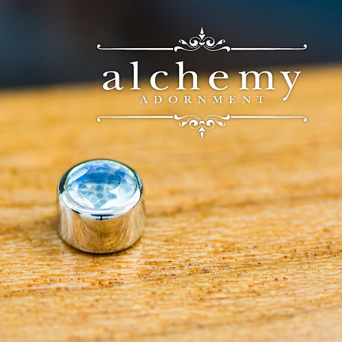 Alchemy Adornment 3mm Bezel Set Genuine Gem Cut Stone