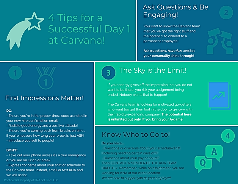 Carvana Day One Success Tips.png