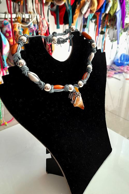 Grey Handmade Necklace