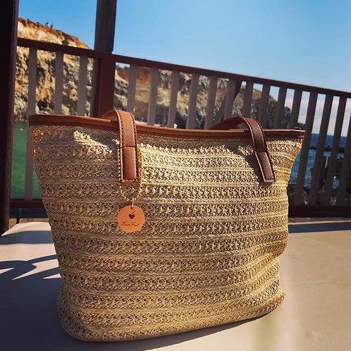 Straw Summer Beach Bag - Paixão Bag no. 2