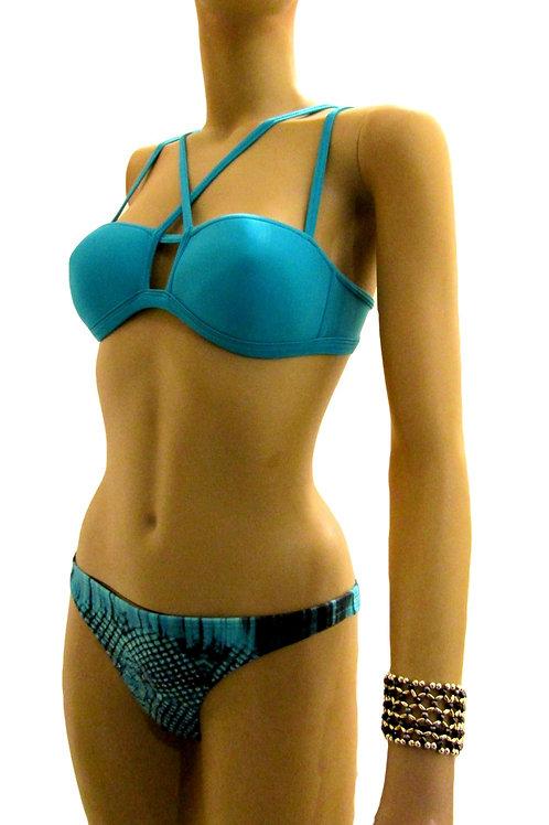 Bandeau with Stripes Brazilian Bikini - Paixão no. 336