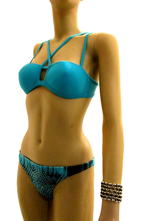 Bandeau with Stripes Brazilian Bikini - Paixão no. 336