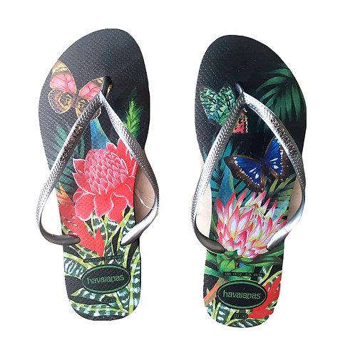 Havaianas - Black Floral