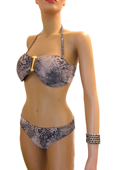 Paixão no. 55 - Plus Size - Brazilian Bikini Set with Snake Print