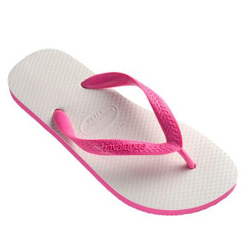 Traditional Havaianas - White & Pink