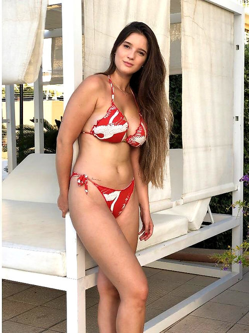Paixão no. 227 - Brazilian Bikini - Red with Dragon Pattern