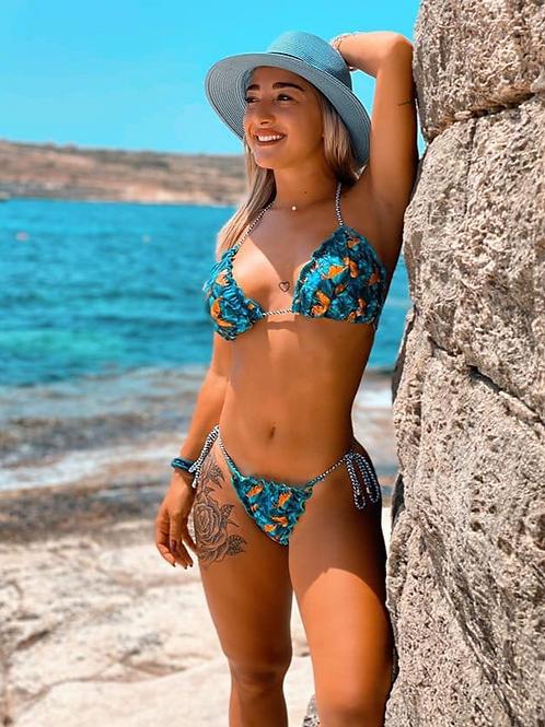 Colorful Brazilian Bikini with Side Tie  - Paixão no. 334