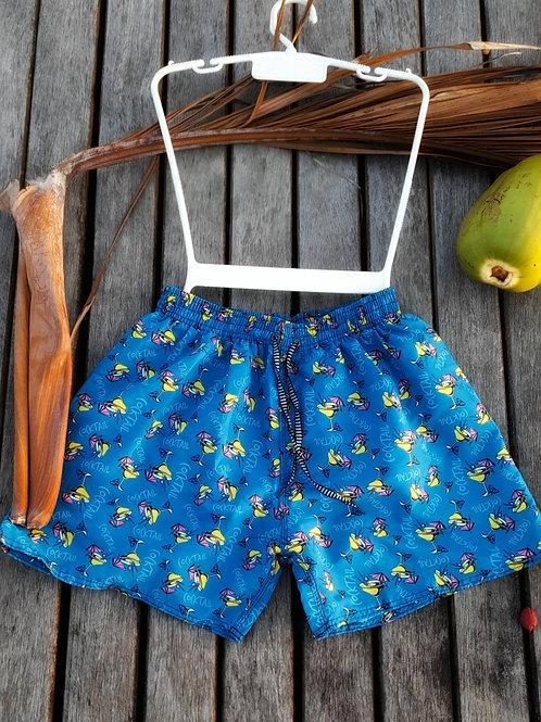 Men's Blue Casual Swim Shorts  - Paixão no. 50