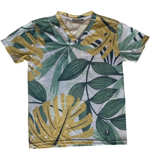 Men's T-Shirt with tropical print - Paixao no.9