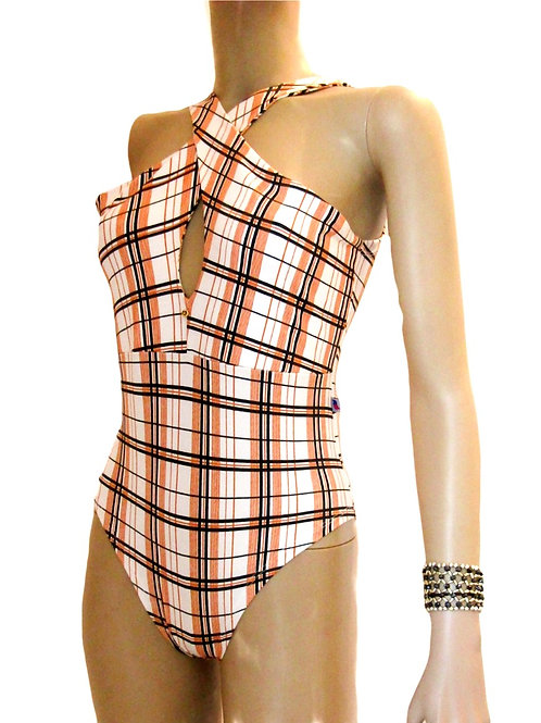 Paixão no. 137 - Elegant Checkered Brazilian Swimsuit Body