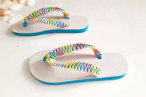 Colorful Havaianas - Hand Finished