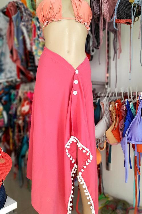 Multifunctional Beach  Skirt Towel in Pink