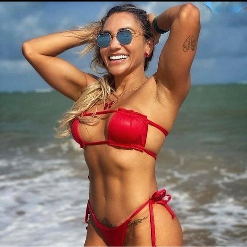 Paixão no. 396 - Strapless Bandeau Bra Bikini Set
