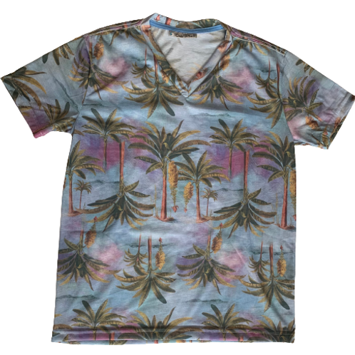 Men's T-Shirt with Palm Tree  print - Paixao no.14
