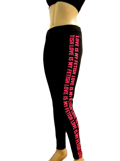 Black and Pink Leggings Active - Love Is My Fetish - Paixao 14