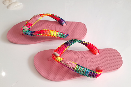 Rosa Havaianas - Hand Finished Flip Flops