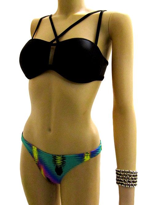 Bandeau with Stripes Brazilian Bikini - Paixão no. 337