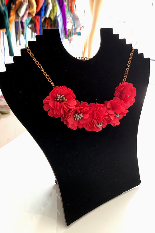 Colar de flores para mulheres bijuteria de verão - flor Paixao