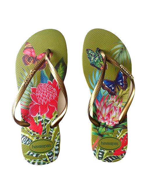 Green & Floral Havaianas Women's  Flip Flop