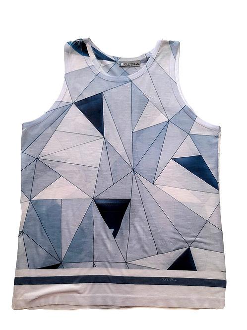 Camiseta masculina com estampa simétrica azul - Paixao no. 3