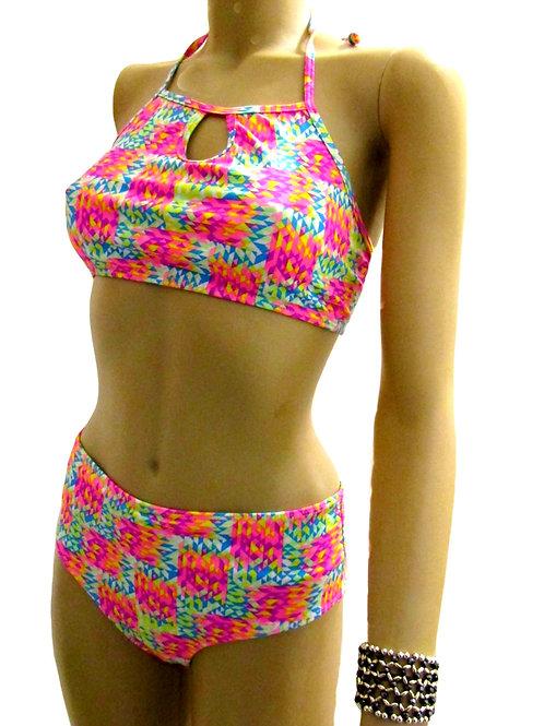 Paixão no. 365 - High Neck and High Waisted Bikini
