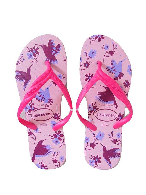 Havaianas - Rose Floral print - Pink Slim