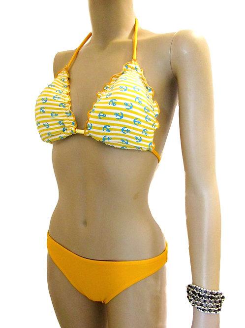 Paixão no. 268 - Brazilian Bikini with yellow anchor pattern