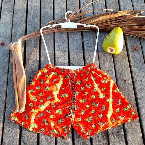 Men's Red Beach Shorts  - Paixão no. 51