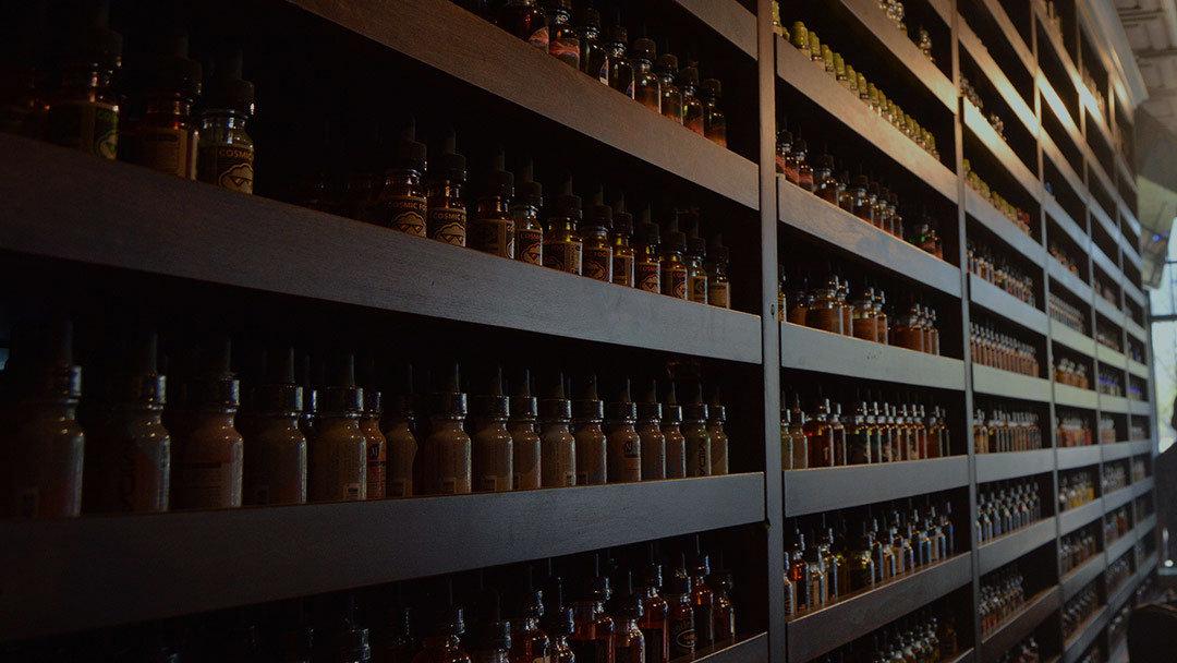 iVape's e-liquid shelf