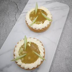 Apple custard tart in Tracy's style - re