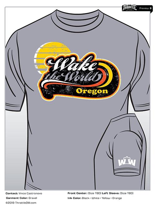 T-Shirt (Grey SS): 2019 WTW Oregon T-Shirt, short sleeve  (Grey)