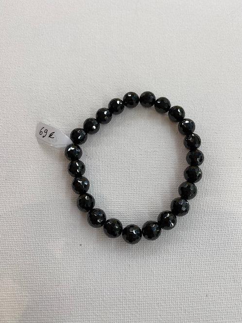 Bracelet en Spinelle Noire facetté
