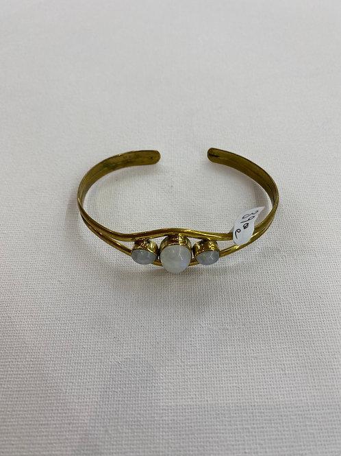 Bracelet en Pierre de Lune et Laiton