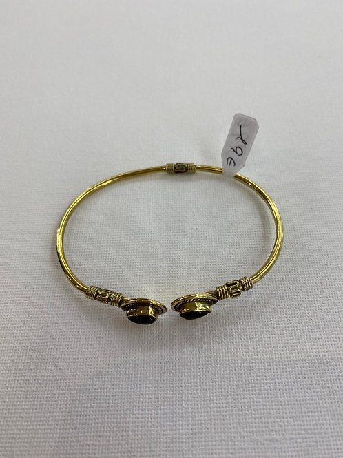 Bracelet en Laiton et Onyx