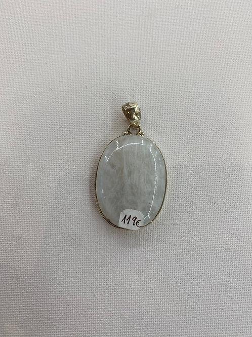 Pendentif en Pierre de Lune et Argent 925